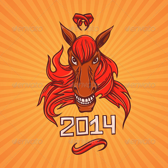 GraphicRiver New Year Horse 6304440