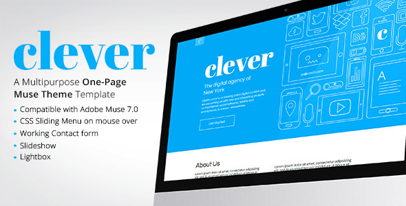 Clever - One Page Muse Theme