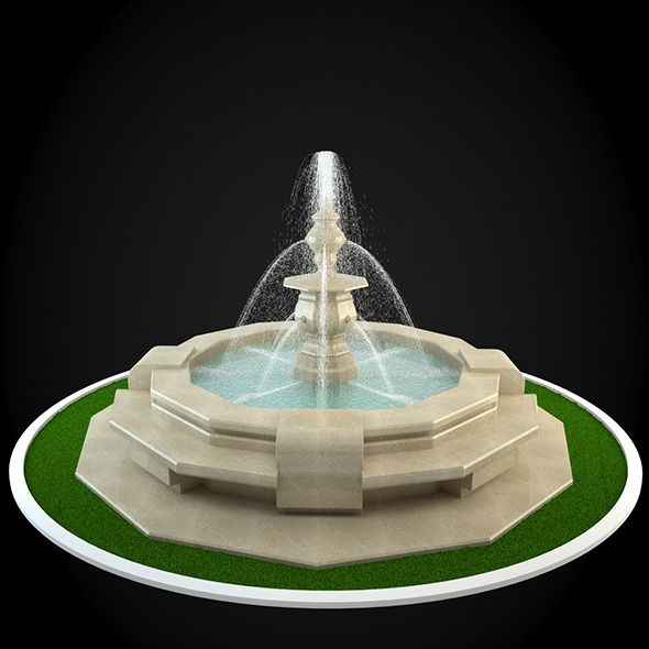 3d max water fountain