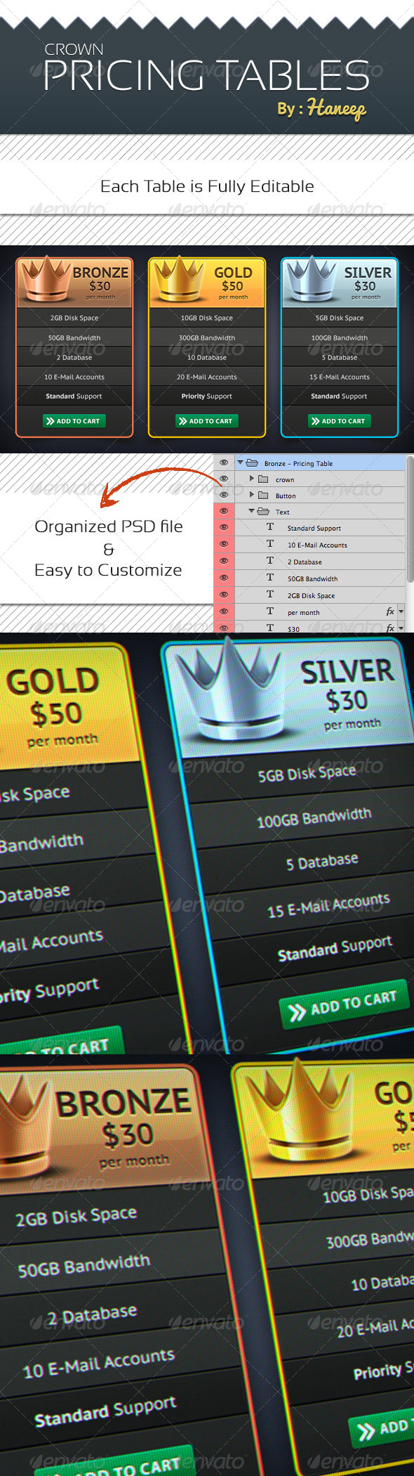GraphicRiver Crown Pricing Tables 6306259