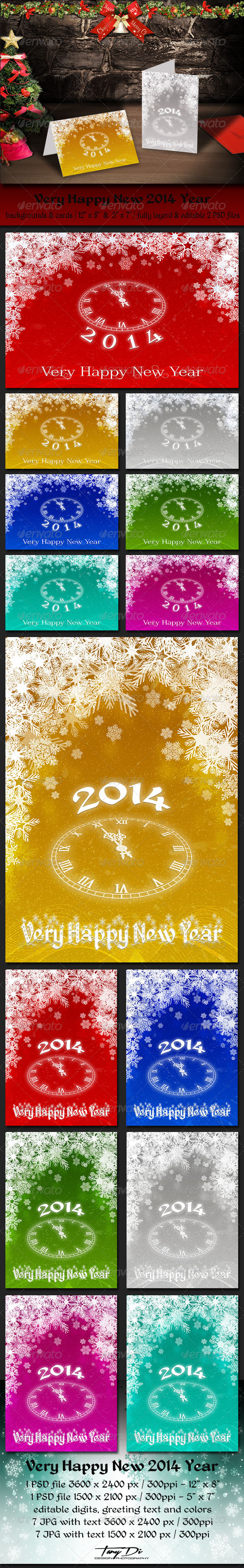 GraphicRiver Very Happy New 2014 Year 6306561