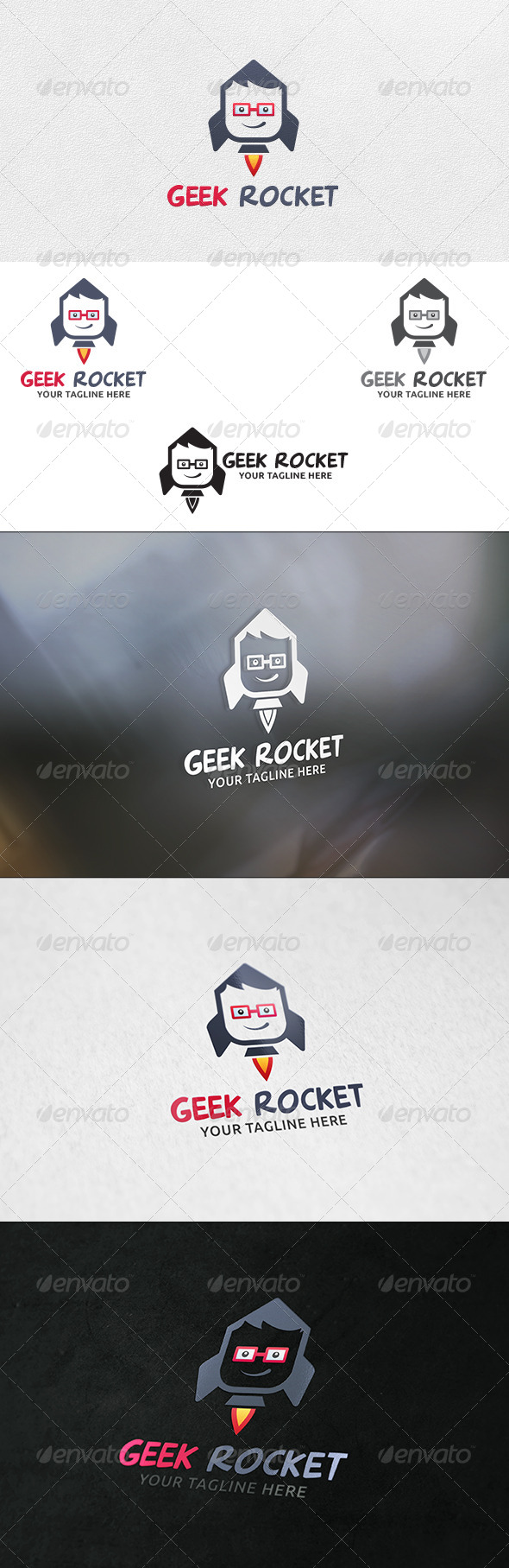GraphicRiver Geek Rocket Logo Template 6307013