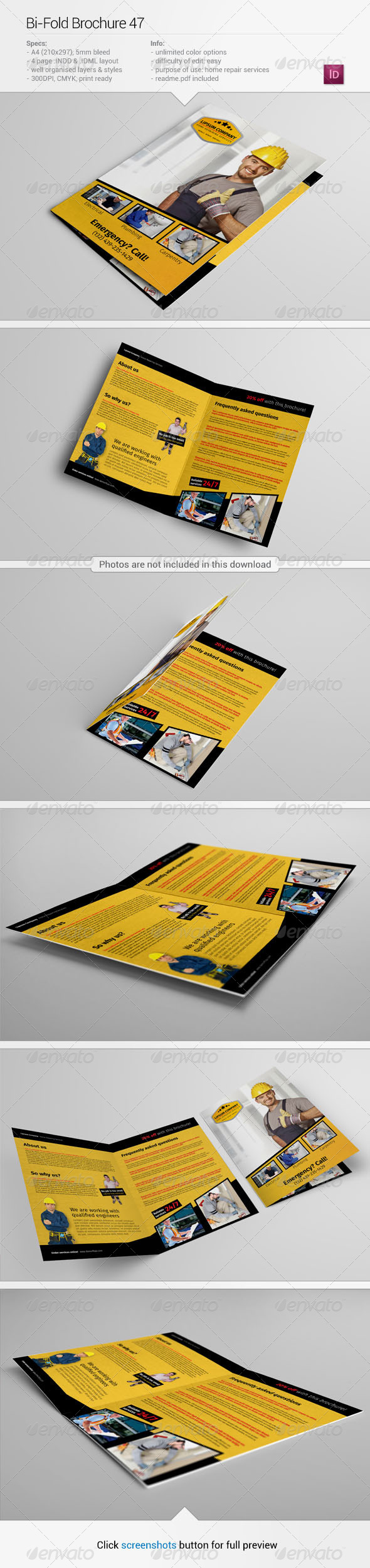 GraphicRiver Bi-Fold Brochure 47 6307082