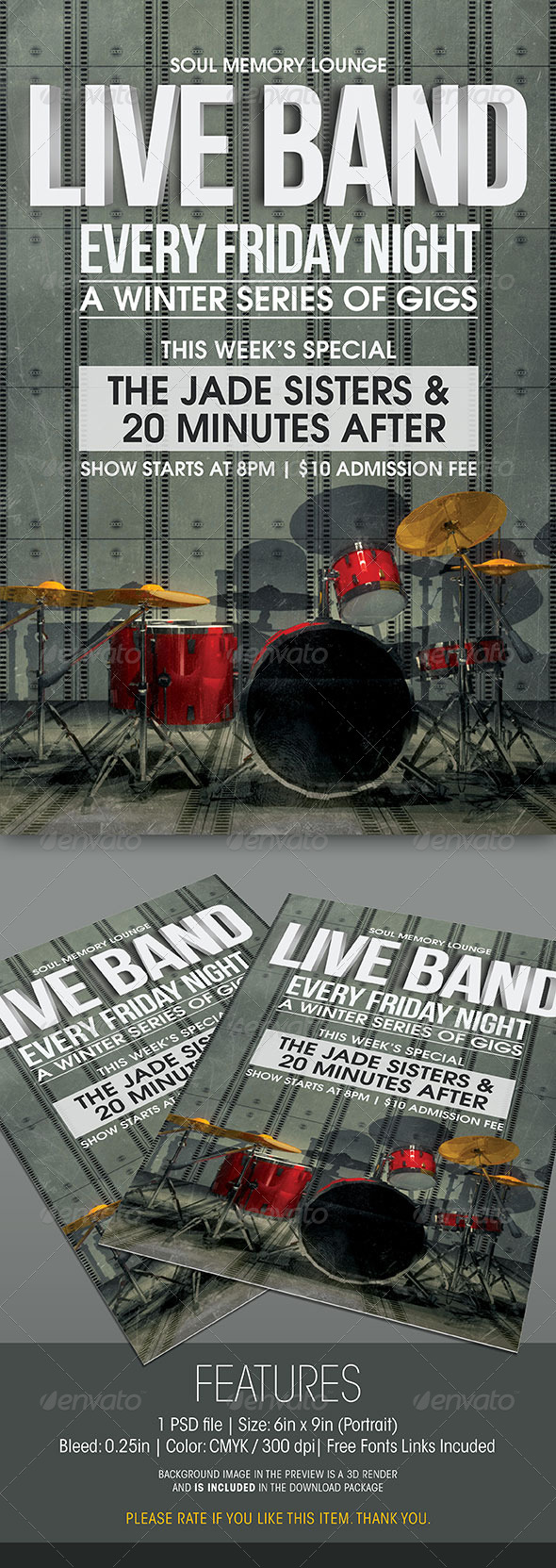 GraphicRiver Live Band Gigs Flyer 6303857