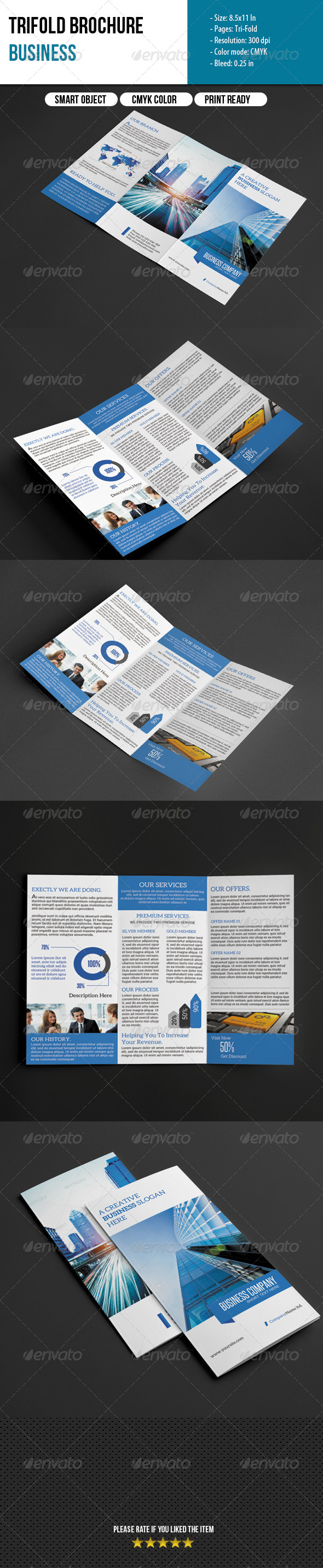 GraphicRiver Trifold Brochure-Business 6307451