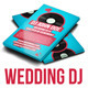 Wedding DJ Retro Business Card - GraphicRiver Item for Sale