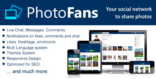 CodeCanyon PhotoFans Your Social Network to Share Photos 6308014