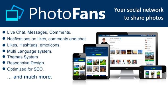 CodeCanyon PhotoFans Your Social Network to Share Photos 6308014