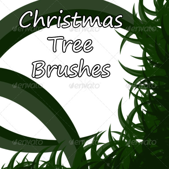 GraphicRiver Christmas Tree Brush 6308832