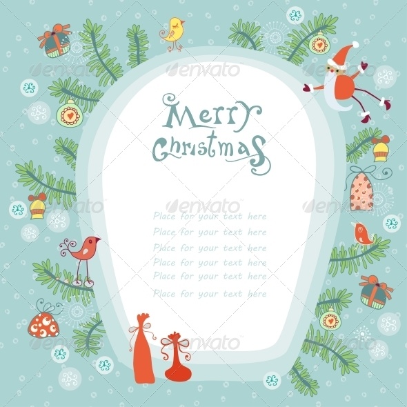 GraphicRiver Christmas Background with Place for your Text 6309164