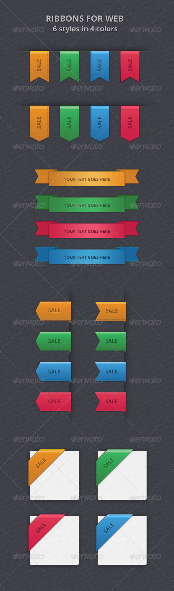 GraphicRiver Ribbons for web 6280060