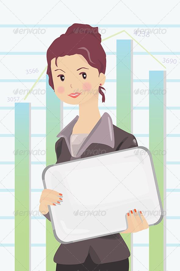GraphicRiver Businesswoman 6310234