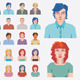 People Avatar Vector Mugshots - Set.1  - GraphicRiver Item for Sale