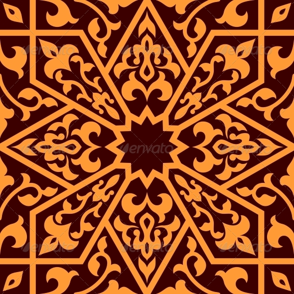 GraphicRiver Arabian Eastern Seamless Ornament 6311113