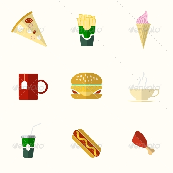 GraphicRiver Food Flat Icons 6311201