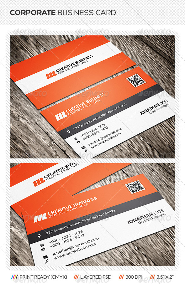 GraphicRiver Clean Corporate Business Card 6311225
