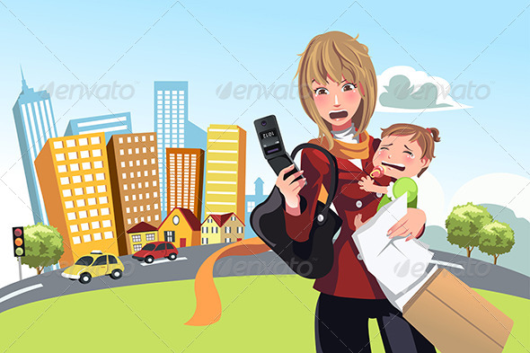 GraphicRiver Busy Woman 6312173