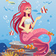 Mermaid in Ocean - GraphicRiver Item for Sale