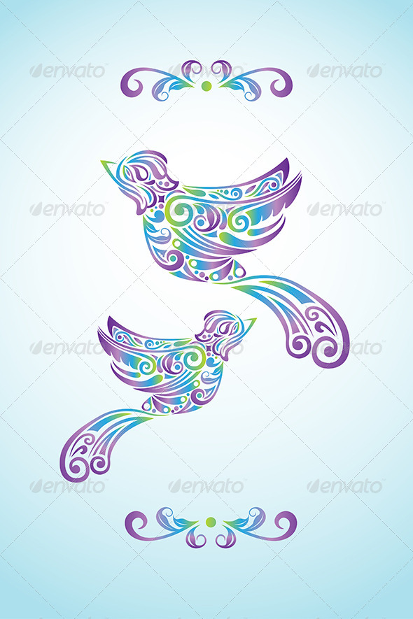 GraphicRiver Bird Abstract Design 6312353