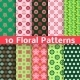 Different Floral Vector Seamless Patterns (tiling) - GraphicRiver Item for Sale