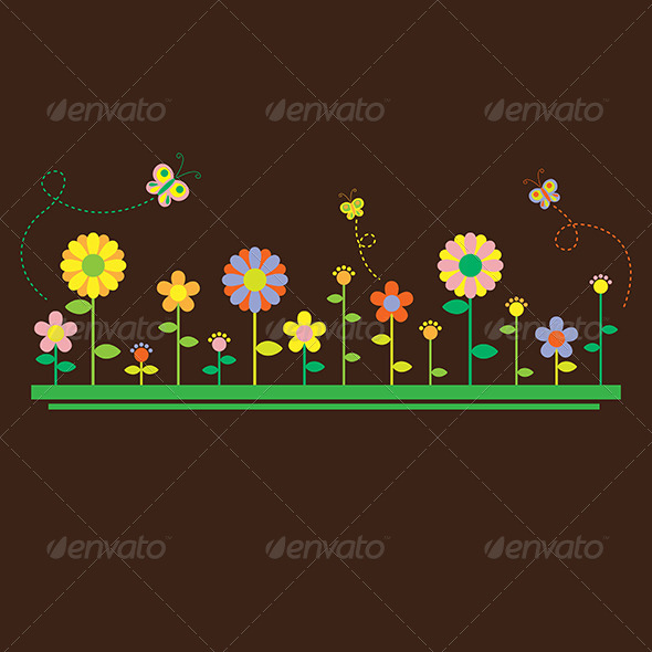 GraphicRiver Flowers Background 6312850