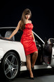 Sexy Woman in Red Dress Near Car   - PhotoDune Item for Sale
