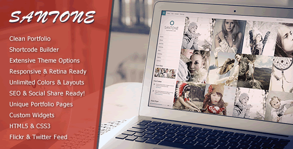 Santone - Clean Portfolio & Photography WP Theme - Portfolio Creative