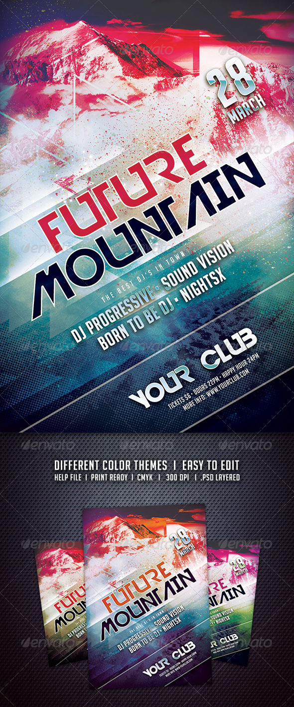 GraphicRiver Future Mountain Flyer 6314043