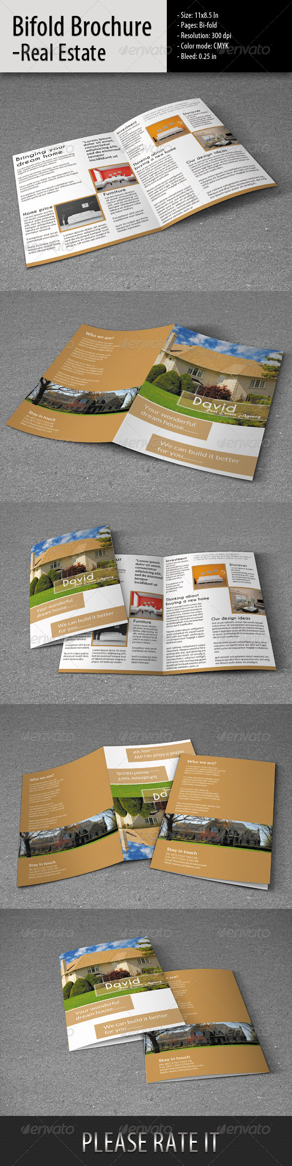 GraphicRiver Bifold Brochure for Real Estate 6314045