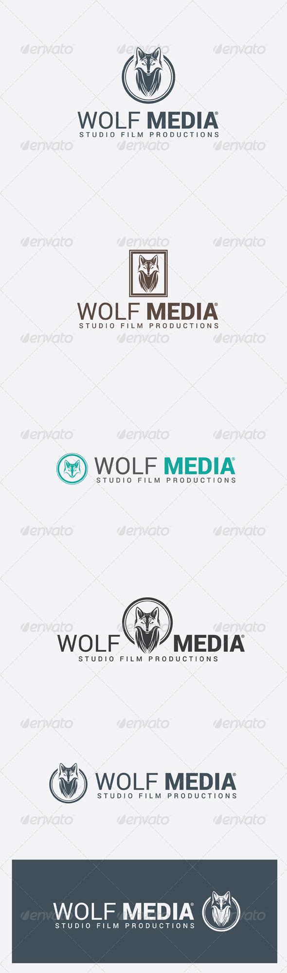 GraphicRiver Wolf Media Studio Film Production Logo Template 6314149