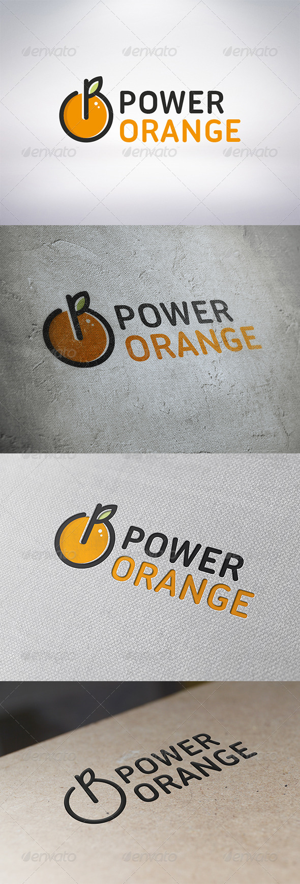 GraphicRiver Power Orange Logo Template 6314394