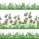 Grass and Flowers, Set Seamless - GraphicRiver Item for Sale