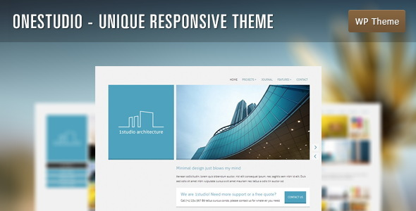 OneStudio - Unique Responsive Theme