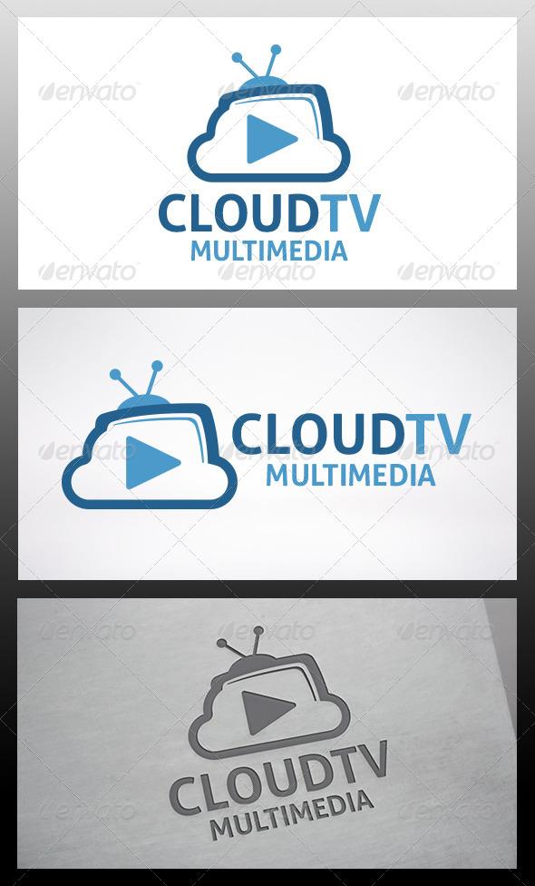 GraphicRiver Cloud Tv Logo 6314888
