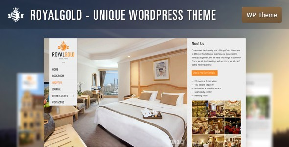 RoyalGold - Unique WordPress Theme