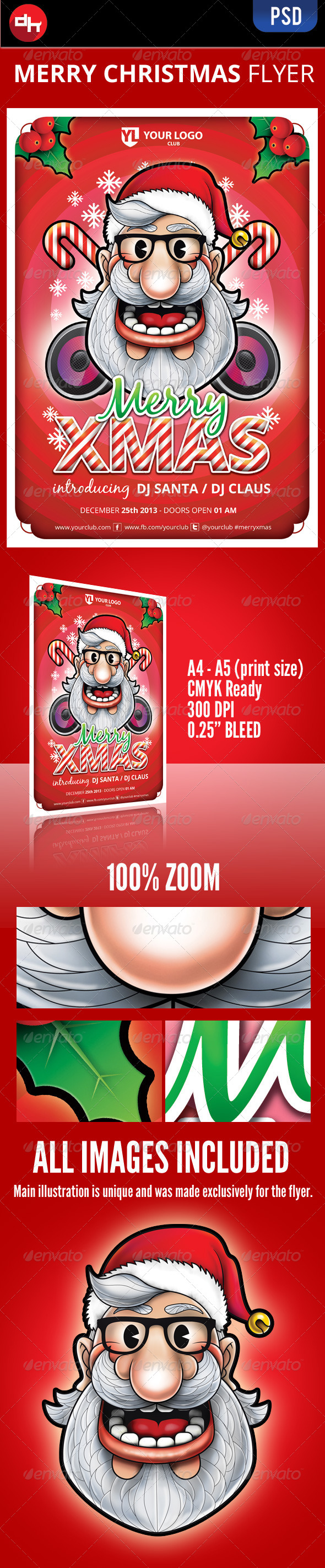 GraphicRiver Merry Xmas Flyer 6315449