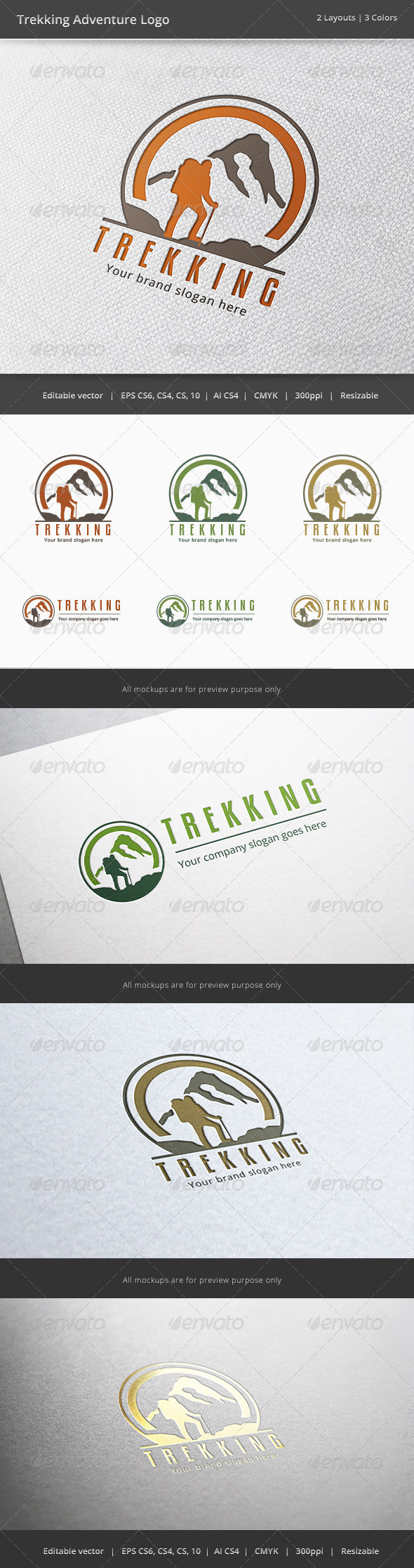 GraphicRiver Trekking Adventure Logo 6315567