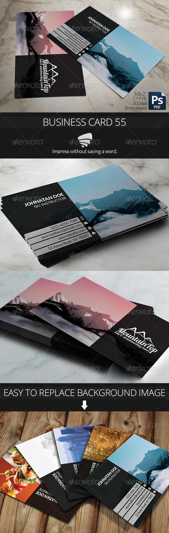 GraphicRiver Business Card 55 6315654