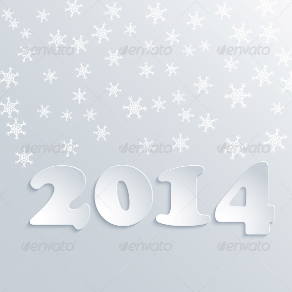 GraphicRiver Abstract Winter 2014 Vector Background 6315809