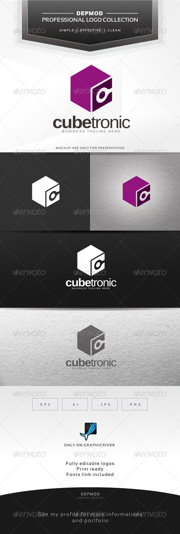 GraphicRiver Cube Tronic Logo 6315991