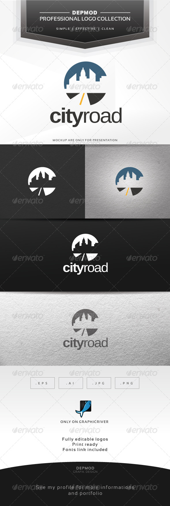 GraphicRiver City Road Logo 6316115