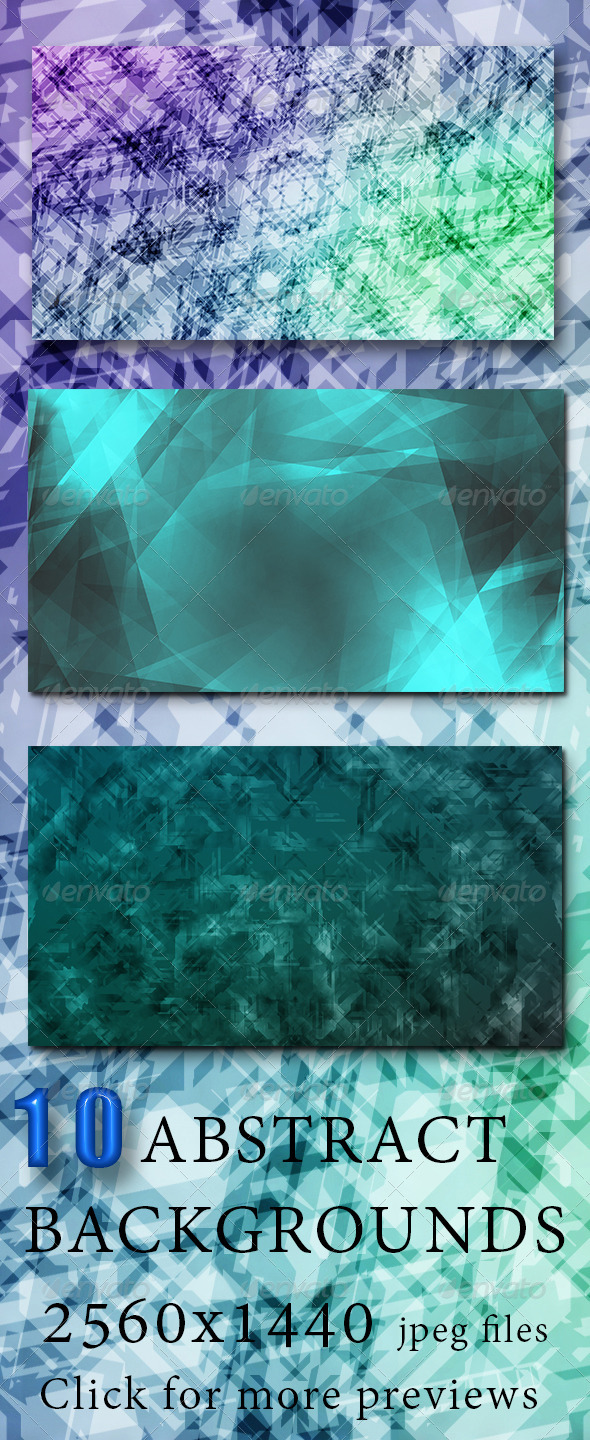 GraphicRiver 10 Abstract HD Wallpapers pack 6275940