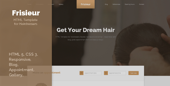 ThemeForest Frisieur HTML5 Template for Hairdressers 6262258