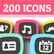 200 Multi Purpose Icon Set - GraphicRiver Item for Sale