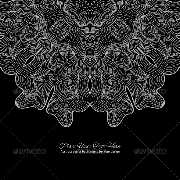 GraphicRiver Black and White Round Lace Background 6316802