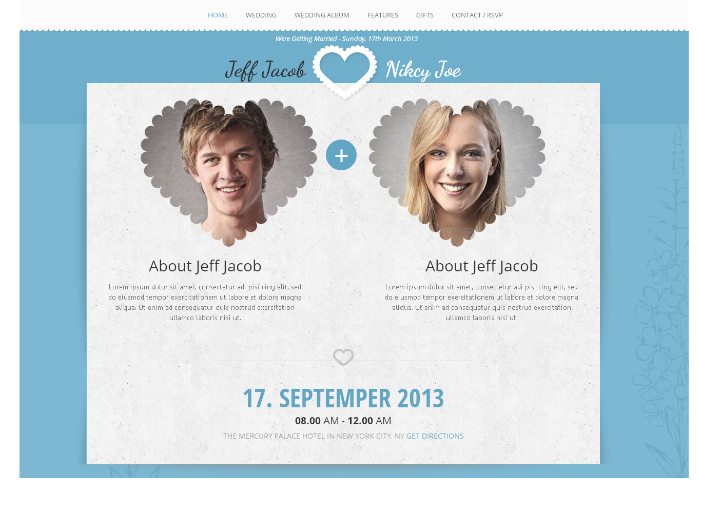 Wedding Slide Responsive Wedding Invite WordPress