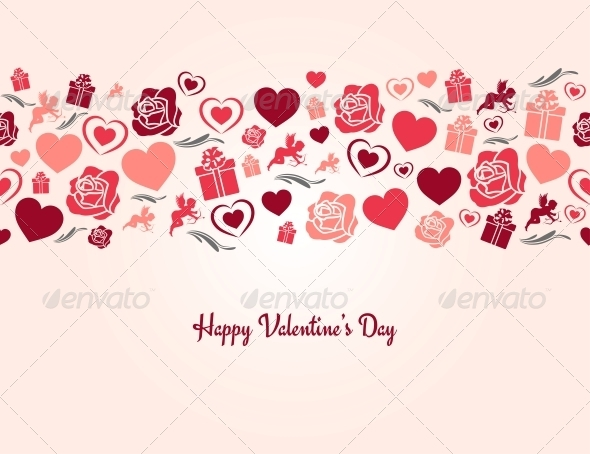 GraphicRiver Valentines Day Heart Seamless Background 6316932