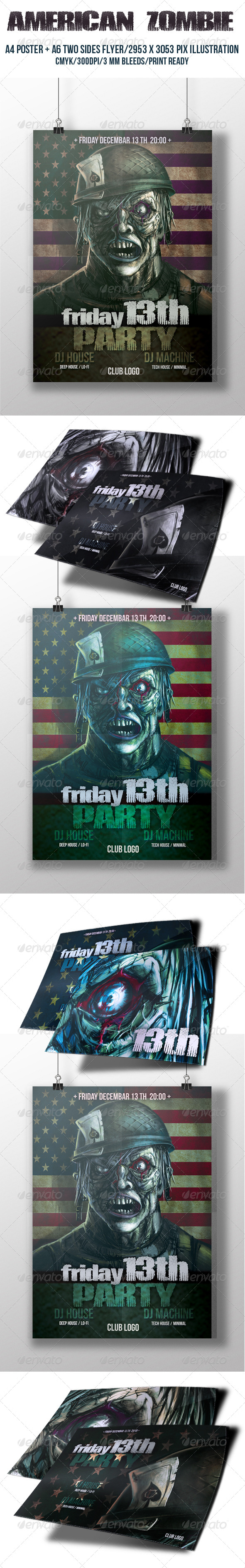 GraphicRiver American Zombie Poster 6316975