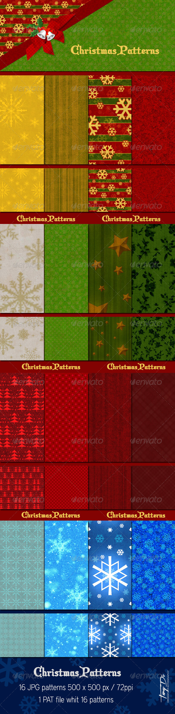 GraphicRiver Christmas Patterns 6317047