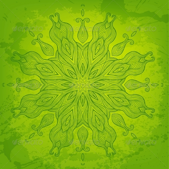 GraphicRiver Green Abstract Vector Background for Your Design 6317059
